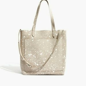 Madewell Splatter Transport Tote Suede Bag